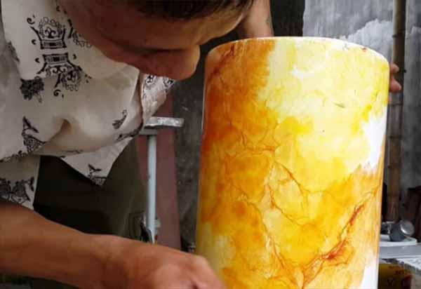 hướng dẫn cách sơn giả đá