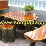 Bàn ghế sơn giả gỗ