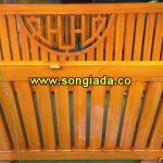 Cửa cổng sắt sơn giả gỗ