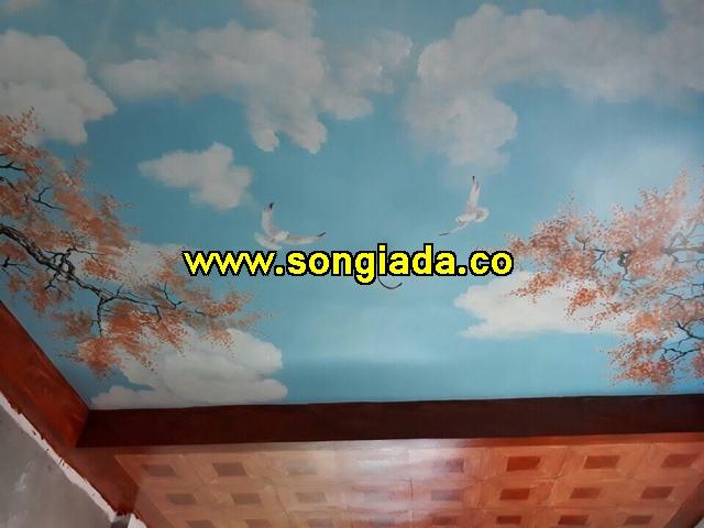 Mẫu trần sơn giả vân mây