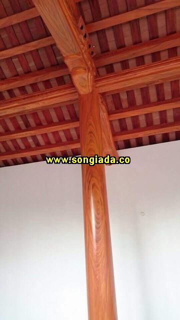 Mẫu cột sơn giả gỗ