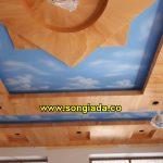 Thi công sơn giả gỗ, trần mây