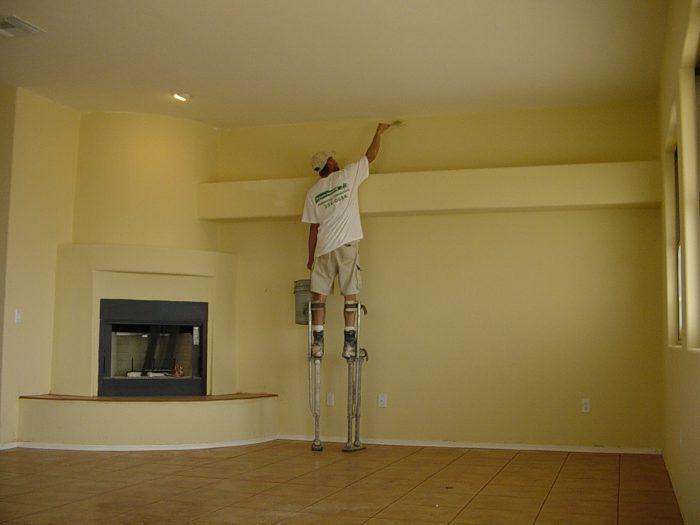 cách sơn lại nhà cũ