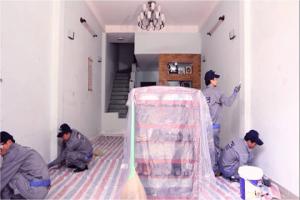 hỏng đồ vật khi sơn nhà